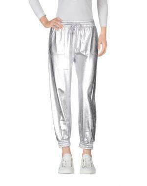 Повседневные брюки NORMA KAMALI. Цвет: серебристый