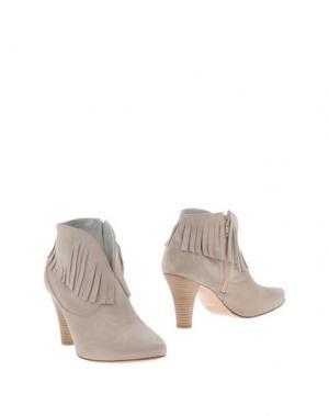 Полусапоги и высокие ботинки EMANUELA PASSERI. Цвет: бежевый