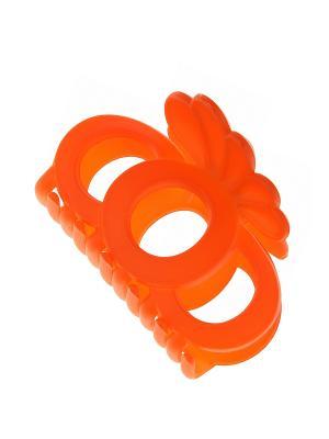 Заколка-краб Happy Charms Family. Цвет: оранжевый