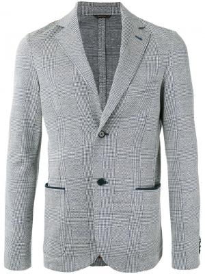 Клетчатый пиджак Loro Piana. Цвет: синий
