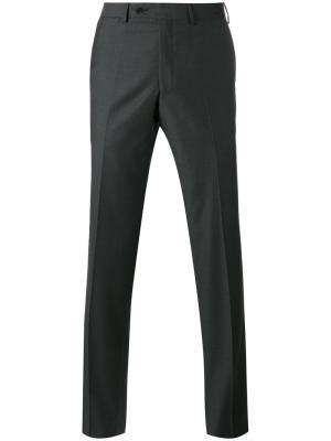 Классические брюки строгого кроя Fashion Clinic Timeless. Цвет: серый