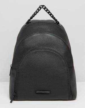 Kendall + Kylie Кожаный рюкзак Sloane. Цвет: черный