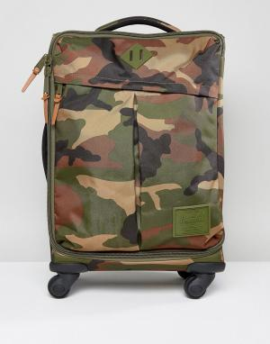 Herschel Supply Co Чемодан для ручной клади с камуфляжным принтом High. Цвет: зеленый