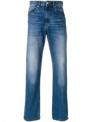 Классические джинсы с высокой талией Ami Alexandre Mattiussi. Цвет: синий