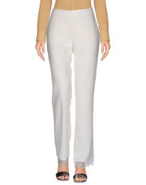 Повседневные брюки PAOLA FRANI. Цвет: белый