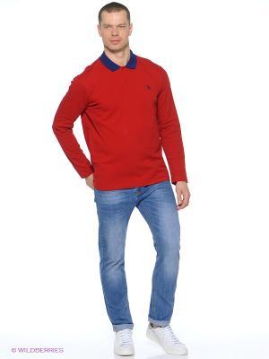 Лонгслив U.S. Polo Assn.. Цвет: красный