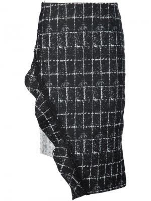 Юбка с асимметричным подолом Jonathan Simkhai. Цвет: чёрный
