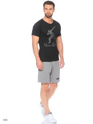 Шорты ESS No.1 Sweat Shorts 9 Puma. Цвет: серый