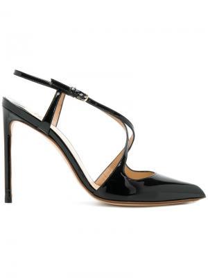 Туфли-лодочки с ремешками крест-накрест Francesco Russo. Цвет: чёрный