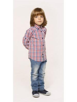 Рубашка Gino de Luka. Цвет: синий, красный