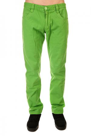 Штаны прямые  5 Pocket Pants Limegreen Urban Classics. Цвет: зеленый