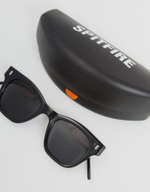 Spitfire Черные квадратные солнцезащитные очки New Wave. Цвет: черный