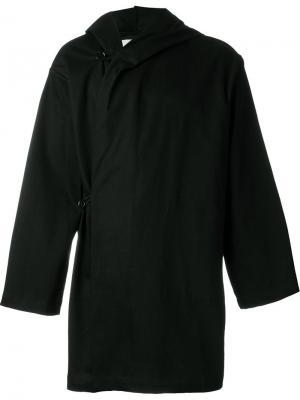 Пальто с капюшоном Mow. Цвет: чёрный