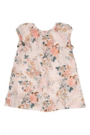 Хлопковое платье Friandis Bonpoint. Цвет: розовый