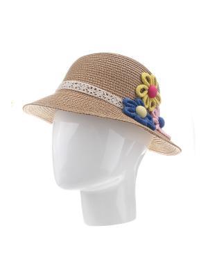 Шляпа Gusachi. Цвет: коричневый, желтый, розовый