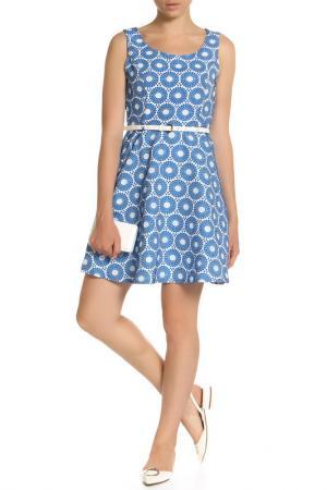 Платье Mela london. Цвет: blue and white