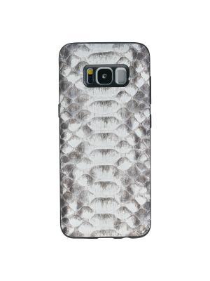 Экзотический чехол из кожи питона Samsung Galaxy S8 plus Bouletta. Цвет: серый