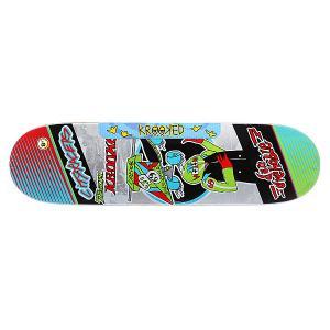 Дека для скейтборда  Drehobl City Racer 32.18 x 8.5 (21.6 см) Krooked. Цвет: мультиколор