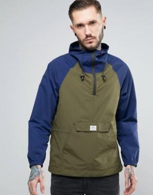 Penfield Двухцветная куртка через голову с капюшоном Pac Jac. Цвет: темно-синий