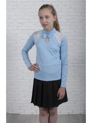 Блузки ZEBRA KIDS. Цвет: голубой