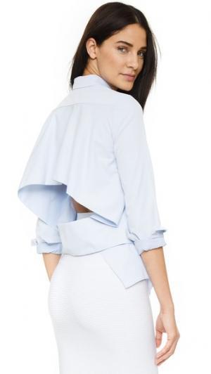 Рубашка N /  с открытой спиной Nicholas. Цвет: синий