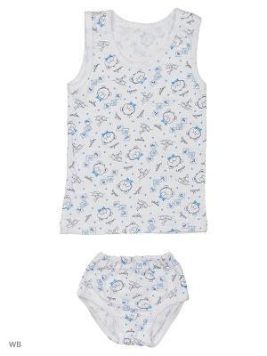 Комплект белья Babycollection. Цвет: белый, голубой