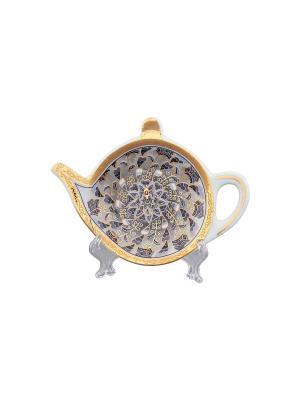 Подставка под чайный пакетик Калейдоскоп Elan Gallery. Цвет: серый, золотистый