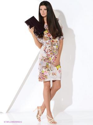Платье Ana Alcazar. Цвет: розовый, желтый