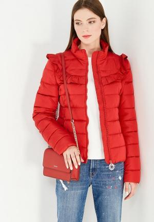 Куртка утепленная Love Moschino. Цвет: красный
