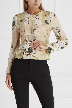 Жакет с принтом и кружевом Dolce&Gabbana. Цвет: розовый