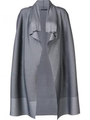 Пиджак каскадного кроя Issey Miyake. Цвет: серый