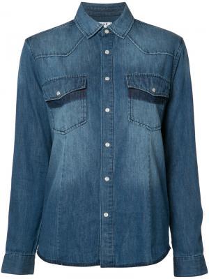 Рубашка с нагрудными карманами Frame Denim. Цвет: синий