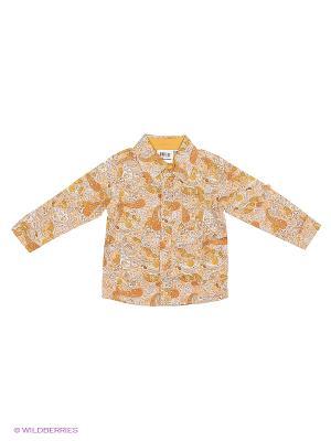 Рубашка JERRY JOY. Цвет: горчичный