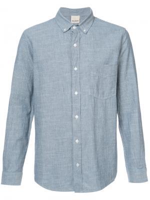 Полосатая рубашка Baldwin. Цвет: синий