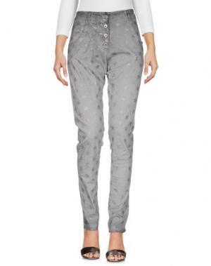 Джинсовые брюки TANTRA. Цвет: серый
