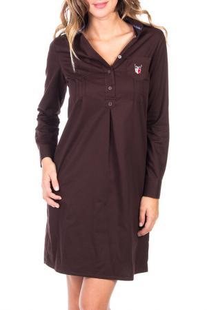 Платье POLO CLUB С.H.A.. Цвет: dark brown