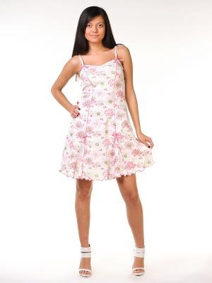 Сорочка ночная женская Тефия. Цвет: зеленый, розовый, белый