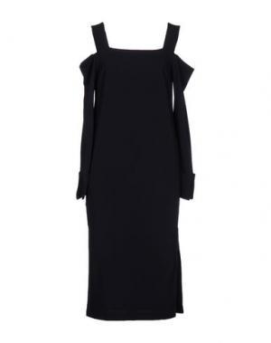 Платье длиной 3/4 ATEA OCEANIE. Цвет: темно-синий