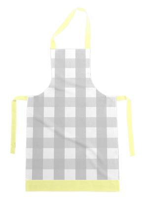 Фартук хлопок, комбинированный DEKORTEX. Цвет: светло-серый, светло-желтый