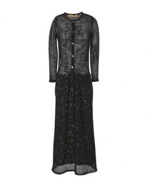 Платье длиной 3/4 MAISON OLGA. Цвет: черный