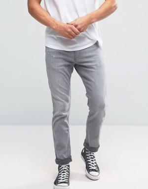 Hollister Серые эластичные джинсы скинни. Цвет: серый