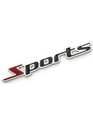Наклейка 3D Спорт WIIIX. Цвет: серебристый, черный