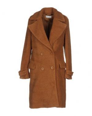 Пальто WEILI ZHENG. Цвет: коричневый