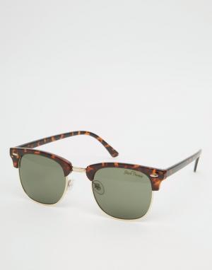 Black Phoenix Черепаховые солнцезащитные очки в стиле ретро. Цвет: коричневый