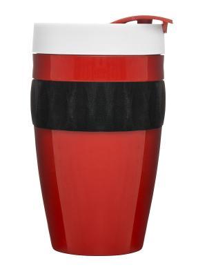 Термокружка красный/черный/белый Sagaform. Цвет: красный