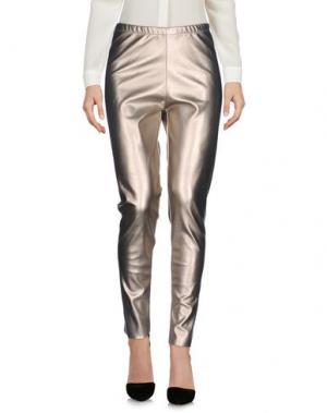 Повседневные брюки PEPEROSA. Цвет: платиновый