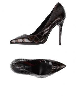 Туфли SPAZIOMODA. Цвет: темно-коричневый