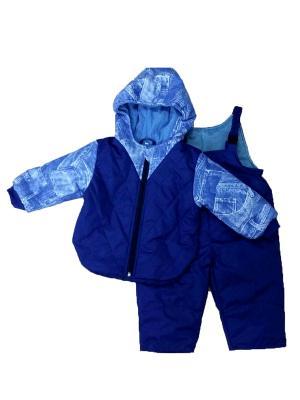 Комплект Джек- куртка, полукомбинезон Дашенька. Цвет: голубой, синий