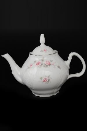Чайник 1,2 л BERNADOTTE. Цвет: белый, розовый, платиновый