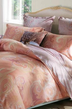 Постельное белье евро 70x70 СIOCCOLATO. Цвет: оранжевый, розовый